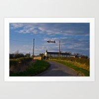 Avro Lancaster over Woolsington Art Print