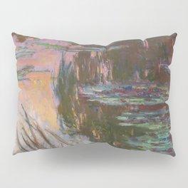 Water Lilies - Setting Sun by Claude Monet Pillow Sham