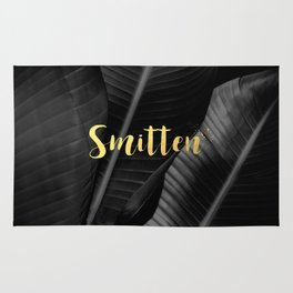Smitten gold - bw banana leaf Rug