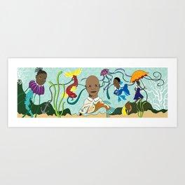 Caribbean Pickney (Children) Art Print