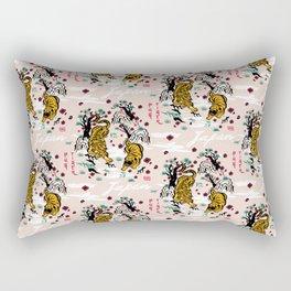 Tiger and Pug Japanese style Rectangular Pillow