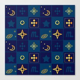 Night Waltz of the planets. Canvas Print