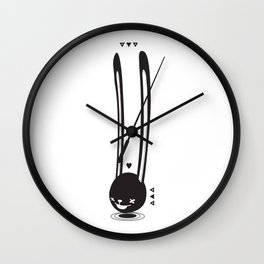 I CAN HEAR YOU ! - LONG EAR BUNNY  Wall Clock