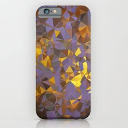 Purple Gold Low Poly Geometric Art iPhone Case