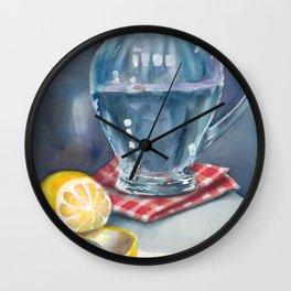 Lemon and a water jug Wall Clock