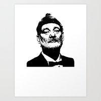 bill murray Art Prints featuring Bill Murray by Spyck