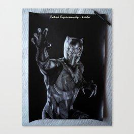Black Panther by Patrik Koprivňansky Canvas Print