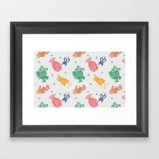 Multicolor Mithila Fish Print Framed Art Print