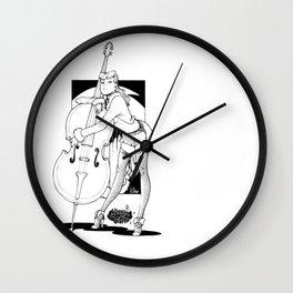 lindyhop bass babe Wall Clock