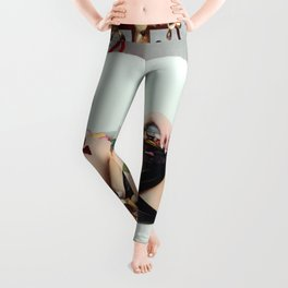 Rose Petals and Redheads, Bathtub female form photograph / photography Leggings