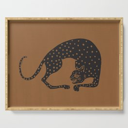 Blockprint Cheetah Serving Tray