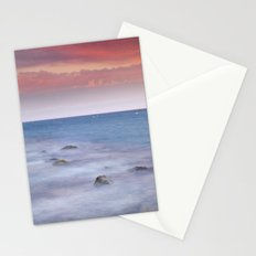 Pink sunset at the mediterranean Stationery Cards