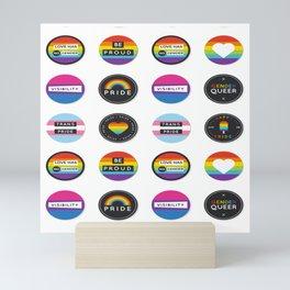 stickers lgbt Mini Art Print