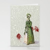pride and prejudice Stationery Cards featuring Pride & Prejudice - Zombified by Studio Fibonacci