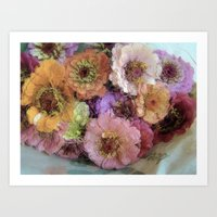 shabby chic Art Prints featuring Shabby&Chic by Joke Vermeer