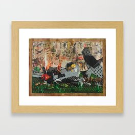P40 Crash Framed Art Print