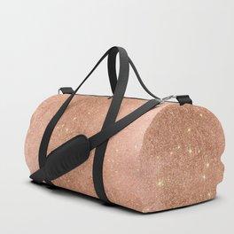Modern elegant rose gold faux glitter pattern Duffle Bag