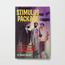 Stimulus Package Pulp Novel Parody Metal Print
