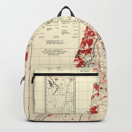 Map of Palestine Index to Villages & Settlements 1940's Backpack