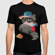 Rad Raccoon Mens Fitted Tee Black MEDIUM