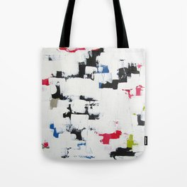"""No. 30 - Print of Original Acrylic Painting on canvas - 16"""" x 20"""" - (White and multi-color) Tote Bag"""