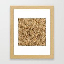 Wicker Pennyfarthing Framed Art Print