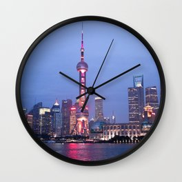 One Night in Shanghai Wall Clock