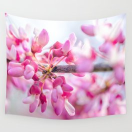 Eastern Redbud Floral Photograph Wall Tapestry