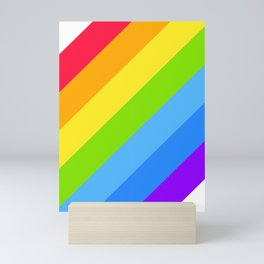 RAINBOW diagonal Mini Art Print