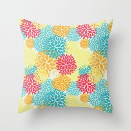 Floral seamless pattern, looks like fantasy flowers Throw Pillow