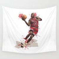 nba Wall Tapestries featuring Jordan 23 by Asta Dagmar