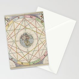 Keller's Harmonia Macrocosmica - Astrological Aspects of the Planets 1661 Stationery Cards
