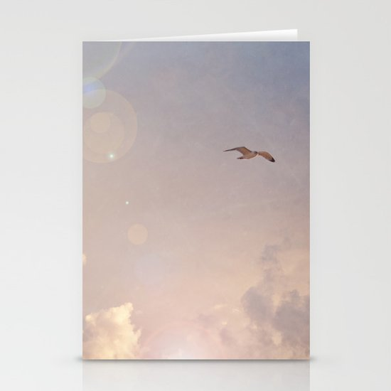 Seagull In the Clouds Stationery Cards