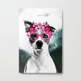 Wild Beauty Girly Doggy  Metal Print