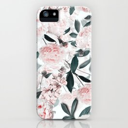 Blush Sepia Flowers iPhone Case