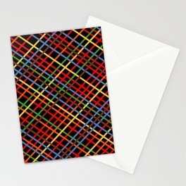 Metro Weave 45 Black Stationery Cards