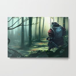 The Wizard who wanted to be a Knight  Metal Print