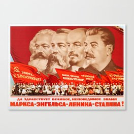 Marx, Engels, Lenin and Stalin, 1953 Propaganda Canvas Print