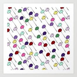 Lollies - white Art Print