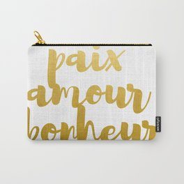 Peace Love Happiness #society6 #decor #buyart Carry-All Pouch