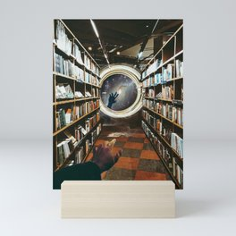 Black Hole in Library #analogcollage #collage #digitalart Mini Art Print