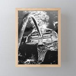 Black And White Basketball Art Framed Mini Art Print