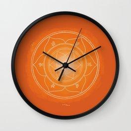 SVADHISTANA Boho mandala Wall Clock