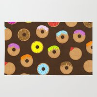 donuts Area & Throw Rugs featuring Donuts by Reg Silva / Wedgienet.net