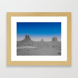 Monument Valley in Blue Framed Art Print