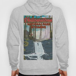 Yellowstone national park travel poster Hoody