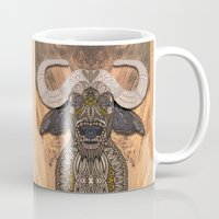 african Mugs featuring African Buffalo by ArtLovePassion