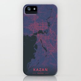 Kazan, Russia - Neon iPhone Case