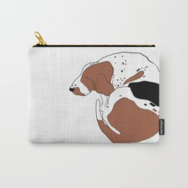 Tricolor Basset Hound Carry-All Pouch