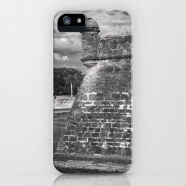 Castillo de San Marcos - black and white iPhone Case